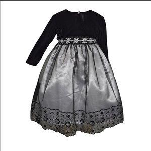 Blueberi Boulevard Embellished Dress & Shrug Set